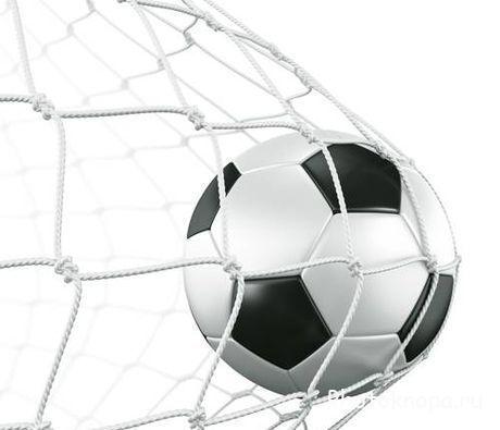 Футбольный мяч в воротах - растровые клипарты
