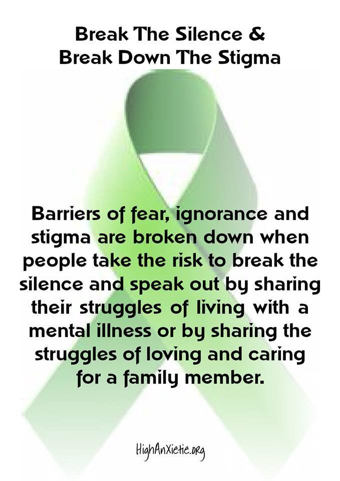 Break the Silence, Break Down the Stigma.