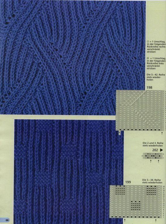 Схемы узоров в технике бриош - Модное вязание