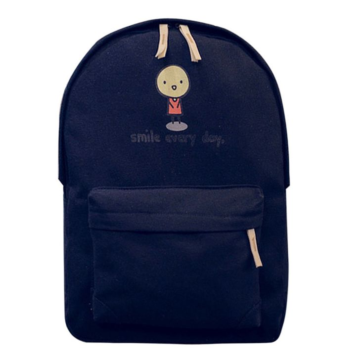 MOJOYCE Preppy Style Teenage Girl School Bag Canvas Backpack Women Handmade Embroidered Cartoon Backpacks Travel Bags mochila