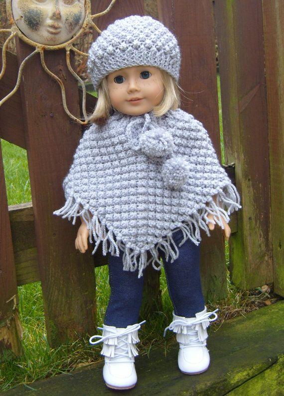 18 Blackberry Poncho Set For 18inch Dolls Pdf Knitting