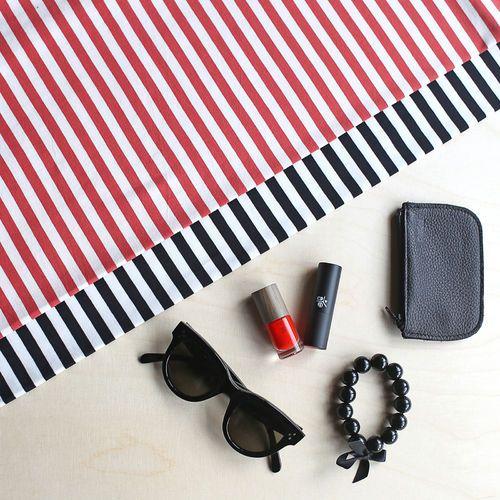 Midi Stripes, Pepper - Vanilla | NOSH Women Autumn 2016 Fabric Collection is now available at en.nosh.fi | NOSH Women syysmalliston 2016 uutuuskankaat saatavilla verkosta nosh.fi