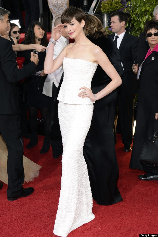 "NBC's ""70th Annual #GoldenGlobe Awards"" - #AnneHathaway"
