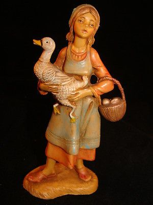 "5"" Fontanini Nativity VILLAGER DEBORAH - Depose Italy - 1983"