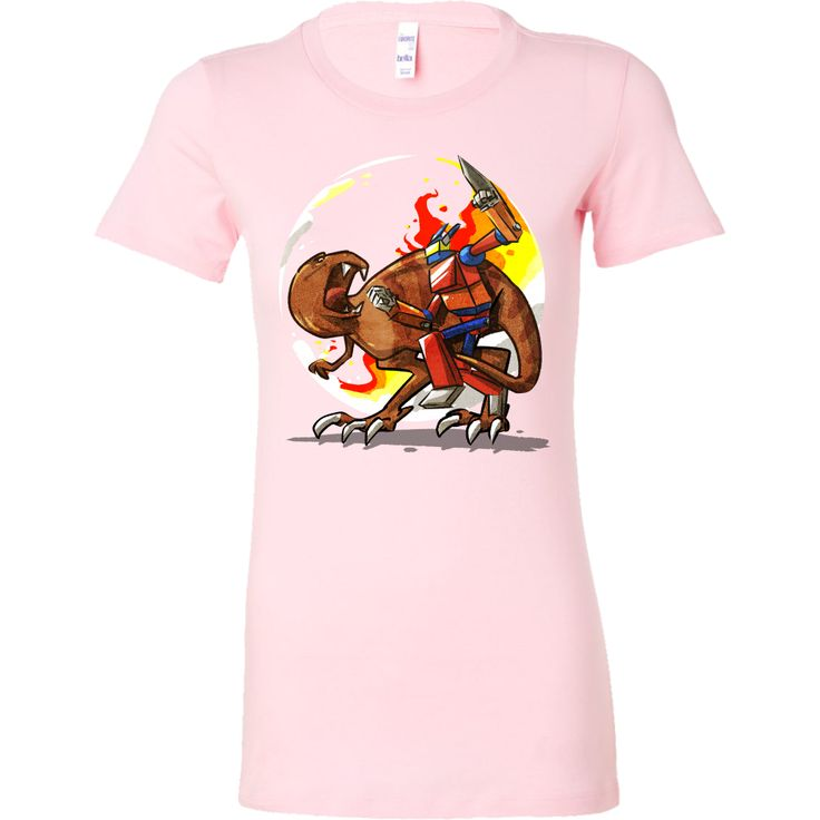 Robot VS Dinosaur Fighting Cartoon Dino Bella Shirt