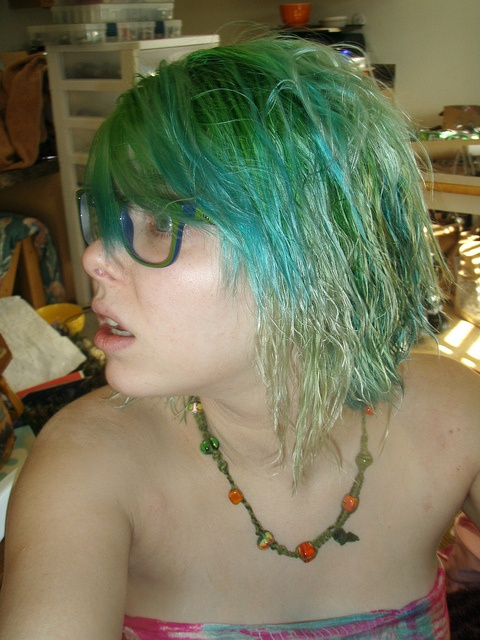 Green And Turquoise Blue Hair After Swimming In A Pool All My Color Came Out Summer 2010 My