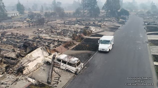 Apocalyptic Drone Footage Shows Postal Service Worker in California Town Post-Wildfire  ||  Aerial cinematographer Douglas Thron captured a United States Postal Service worker making his rounds in Santa Rosa, California, a community utterly devastated by the recent https://www.lightstalking.com/apocalyptic-drone-footage-shows-postal-service-worker-california-town-post-wildfire/?utm_campaign=crowdfire&utm_content=crowdfire&utm_medium=social&utm_source=pinterest
