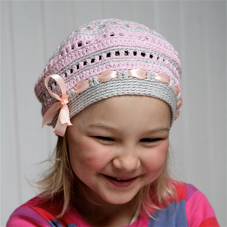 PDF pattern for Crocheted beret style hat for kids (3-6 yo ...