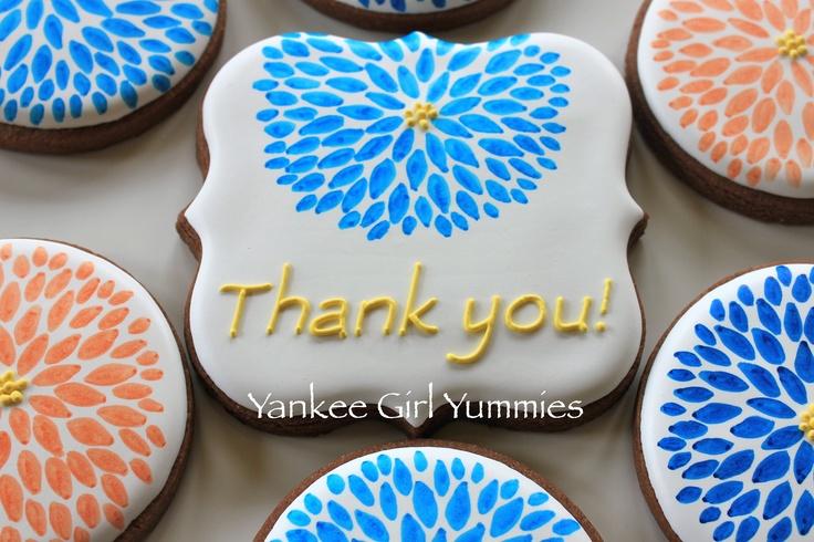 Thank you flower cookie. Yankee Girl Yummies
