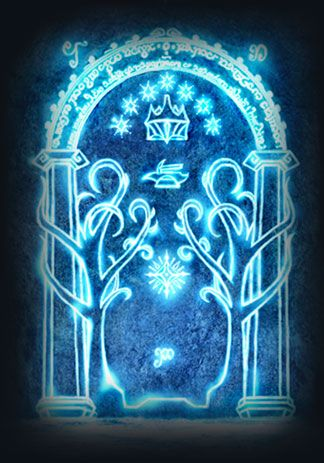 Lord of the Rings Moria. I should paint this on a door to lord of rings nursery glow in the dark paint.
