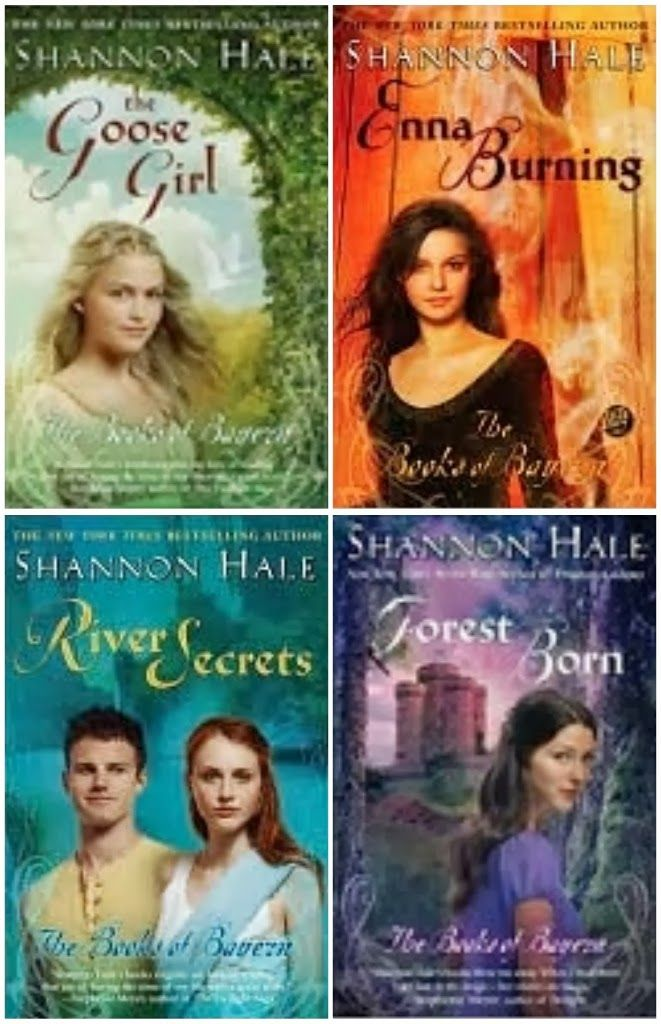 The Books of Bayern by Shannon Hale. My favorite books are Enna Burning and River Secrets, but they are all definitely worth a read! -Stefany. Link to The Goose Girl for available copies and requests: http://sherloc.imcpl.org/?itemid=|library/marc/dynix|914828