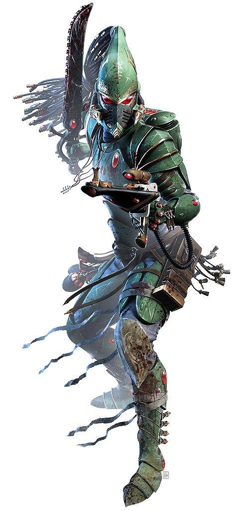 Character design and concept development - Faeit 212: Neil Roberts.  Warhammer 40k universe