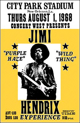 """'Scuse me while I kiss this fly.."""" Jimi's NOLA gig"""