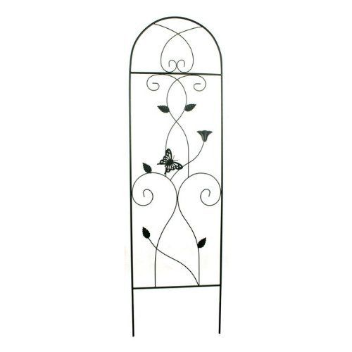 """Commend Limited 82"""" Green Wash and Gold Finish Butterfly Wrought Iron Trellis Sold in packs of 3 by Commend Limited. $101.49. Green Wash and Gold finish. Trellis. 24"""" x 82"""", Sold as a 3 pack. Butterfly design. Metal tube and wrought iron construction. * Trellis * Metal tube and wrought iron construction * Butterfly design * Green Wash and Gold finish * 24"""" x 82"""" * Sold as a 3 pack"""