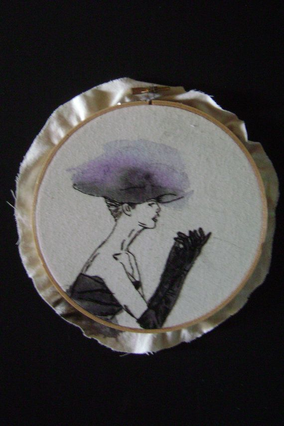 Hand Embroidered Artwork  Sophia  15cm by mynameisalice on Etsy, $20.00