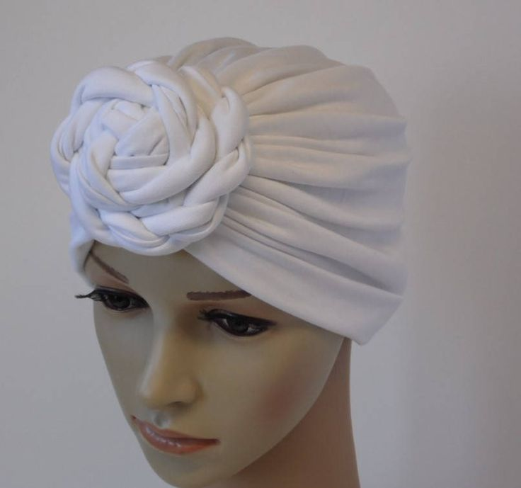 Rosette turban, fashion turban for women, front knotted turban hat, top knot turban for women, viscose jersey turban by accessoriesbyrita on Etsy