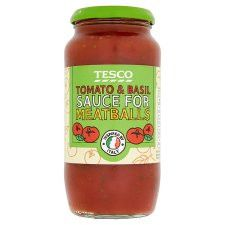 Tesco Tomato And Basil Sauce For Meatballs 500G
