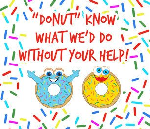Donut know what we'd do Thank you card for goody or gift bag, Vacation Bible School, Volunteer, Helper, Appreciation, VBS, Teacher Doughnut by MamaSellsStuff on Etsy