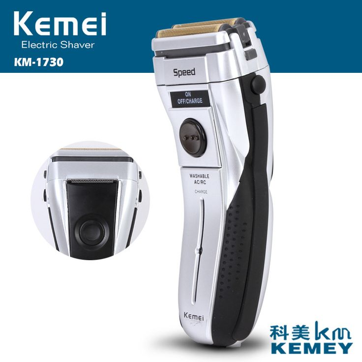 kemei rechargeable electric shaver 3D floating beard shaver electric razor men shaving machine trimmer face care