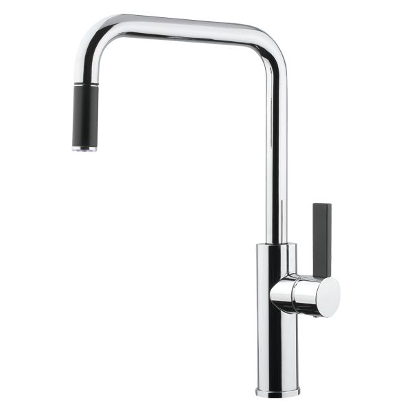 Italian Designed & Manufactured Elegant Flat Lever Includes Pull-Out Quality Chrome Finish WELS Rating: 4 Star Flow Rate 7.5L/min