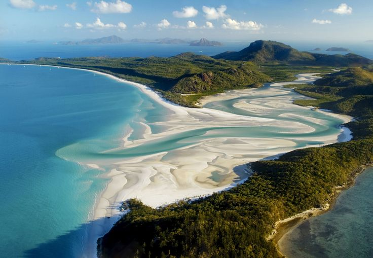 Whitehaven Beach australia, Queensland's Most Beautiful Beach.Natives are proud of the pristine Whitehaven Beach, and they're intent on keeping it that way: Neither cigarettes nor dogs are allowed on its shores. The beach is also known for the bright, white color of its sand, made possible due to the high percentage of silica in its chemical makeup.