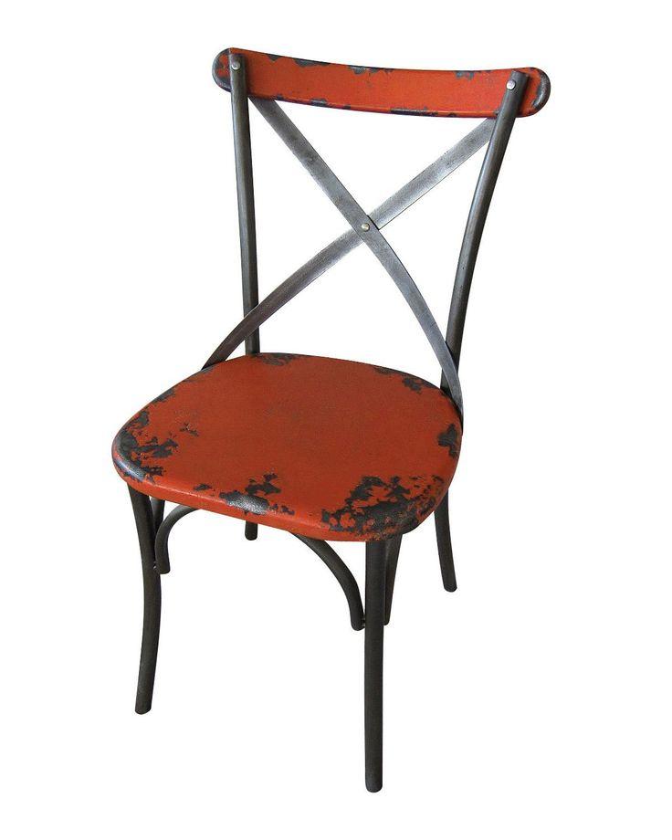 Notleidende Metall Esszimmer Stuhl Verzweifelt Metall