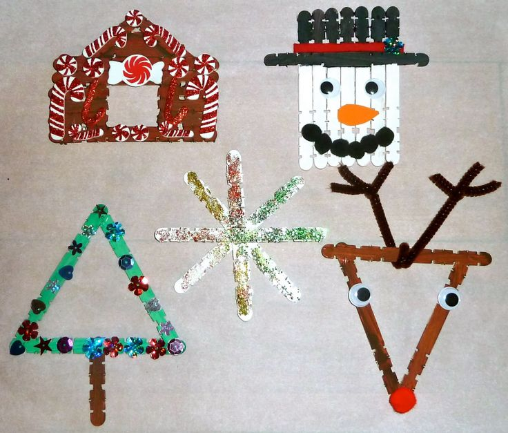 Christmas Decorations With Children Part - 26: Mom To 2 Posh Lil Divas: 5 Homemade Craft Stick Christmas Ornaments For Kids  - Good For Girl Scouts