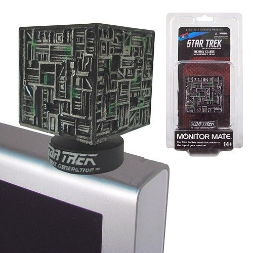The Next Best Thing - Star Trek Borg Cube Monitor Mate , $9.99 (http://www.thenextbesthing.com/star-trek-borg-cube-monitor-mate/)
