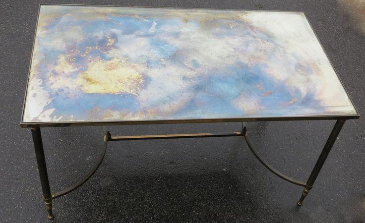 78 id es propos de tables basses avec miroir sur for Table basse vieilli