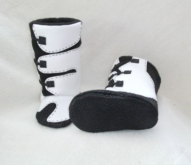I wañt these in PINK!!  Baby boy or girl boots baby shoes MX motocross boots by Tooksberry, $70.00
