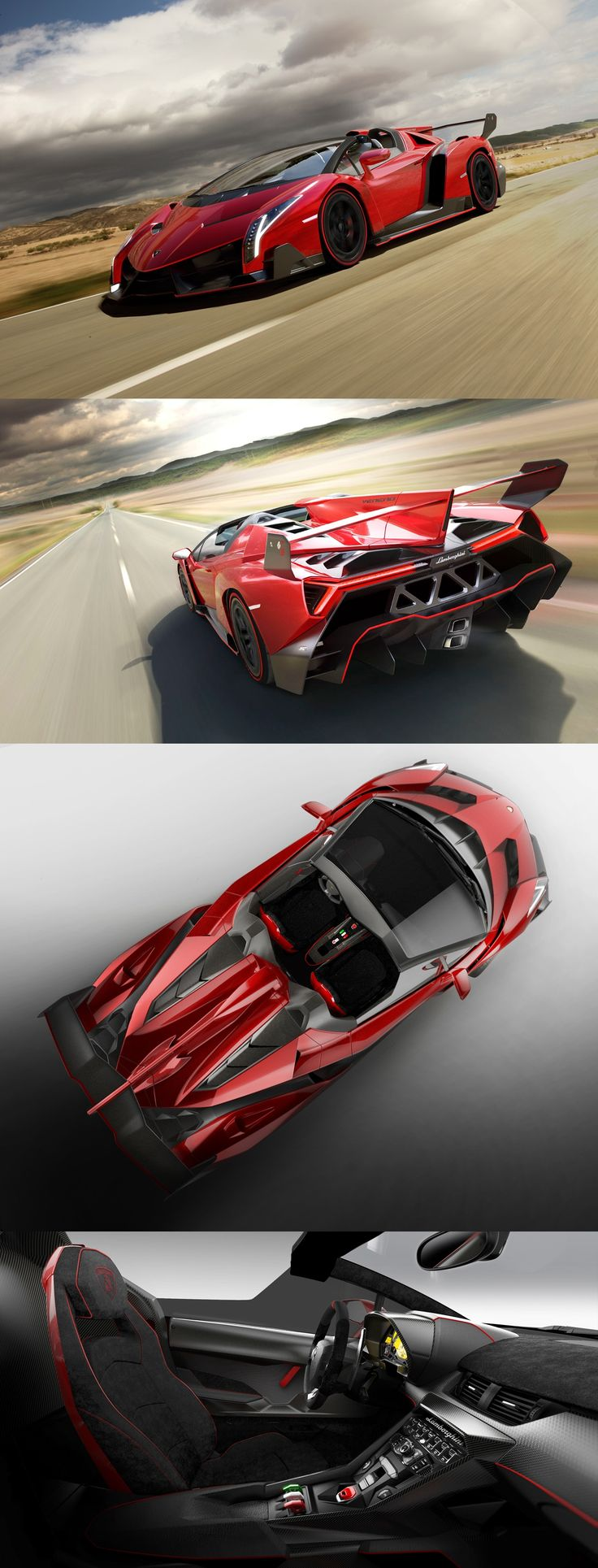 $4.6 Million Lamborghini Veneno Roadster. Only 3 were made in the world!
