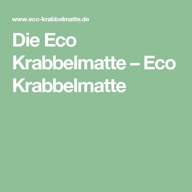 Die Eco Krabbelmatte – Eco Krabbelmatte