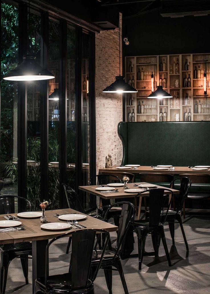 Ris interior design brings a vivid playfulness to taiwans gatto bianco bistro restaurant
