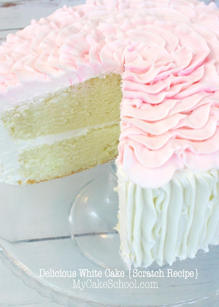 White Cake Recipe (New Version) #cakerecipe #food