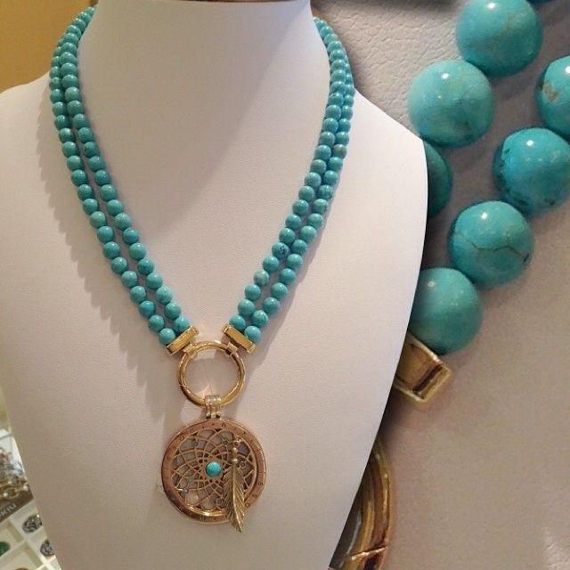 All about turquoise!! -xx- #NikkiLissoniUK #WhatsInsideCounts #summer #holiday #jewellery #necklace #gold #pendant #SweetDreams #Protection