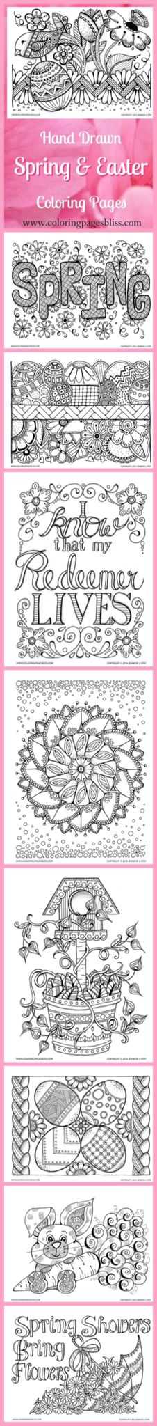 Coloring Pages For Adults Spring And Easter Are You Looking Flowers