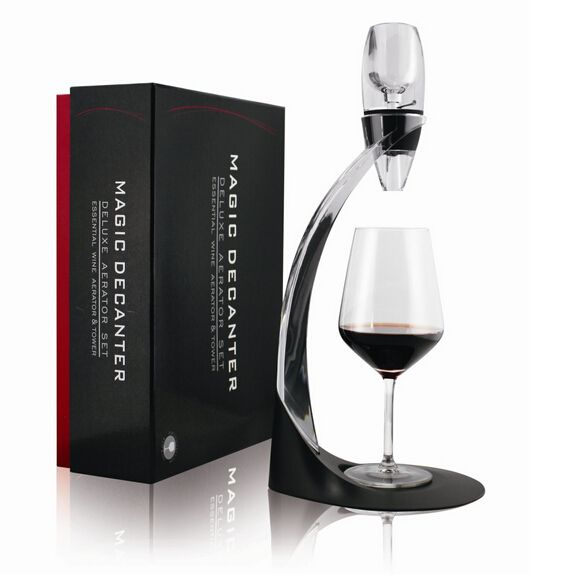 1Pcs/set Magic Wine Decanter LED Decanter Pumps with Holder Acrylic Drink Pourers Free shipping
