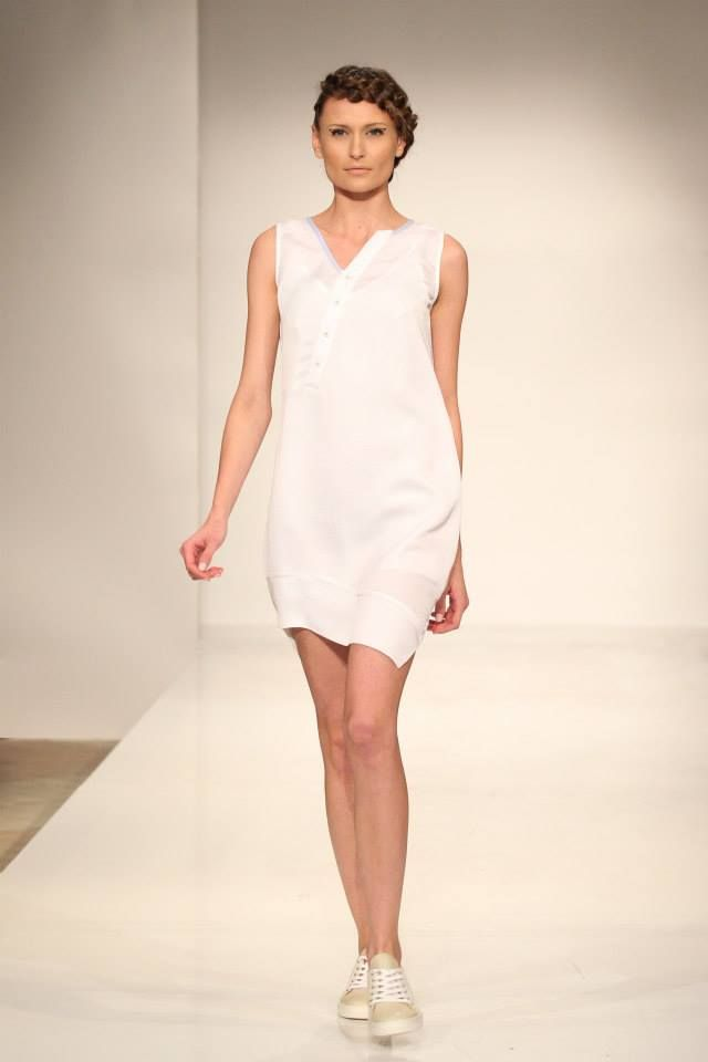 Asymmetric White dress with buttons. Order via facebook, pm or e-mail.