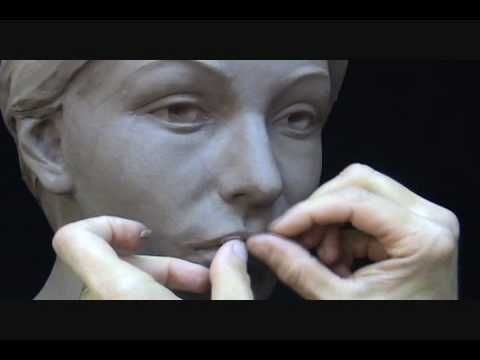 Sculpting Extreme Makeover in Clay. Sculpting Demo. (Plastic surgery in clay)