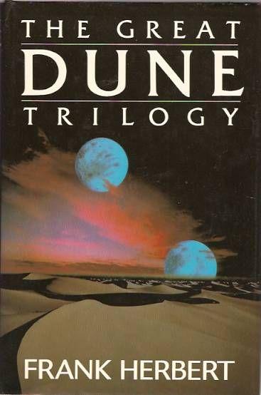 1984 London Edition of The Great Dune Trilogy: Dune; Dune Messiah; Children of Dune - by Frank Herbert
