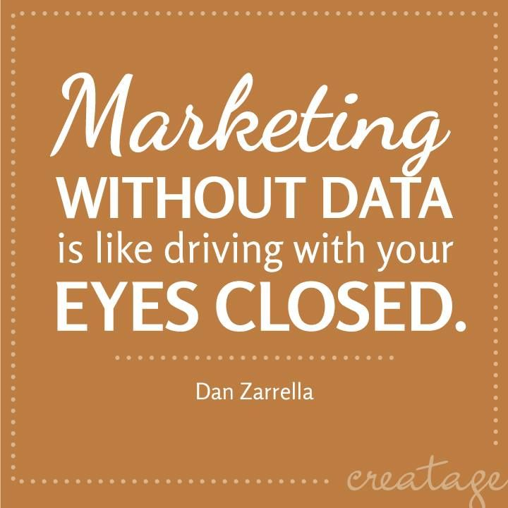 The importance of data in marketing.