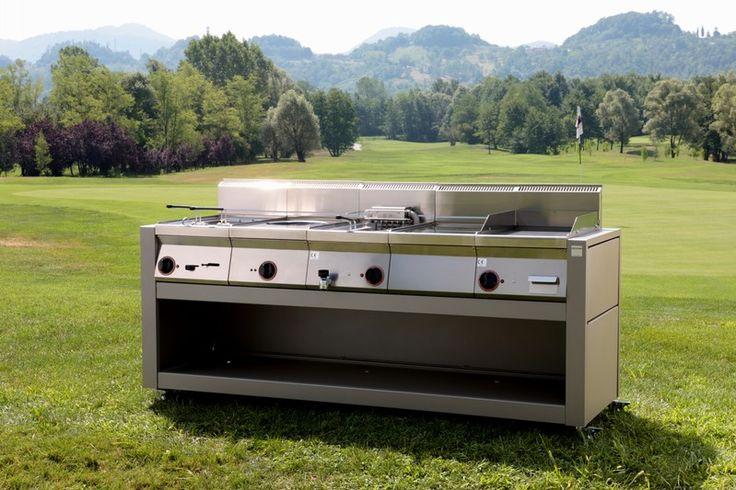 Cucine professionali da esterno cube 2000 five stars italy pergole mobili per giardino cucine - Cucine da giardino ...