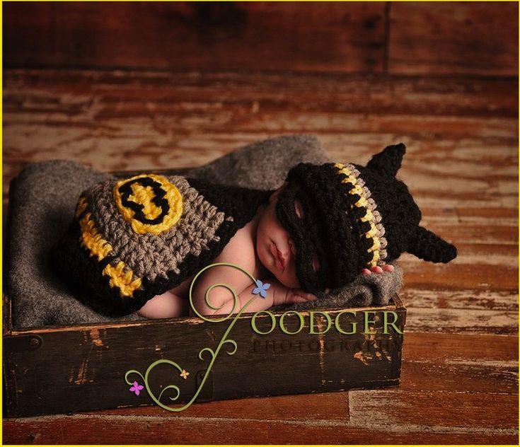 Holy Adorable Batman!: Babies, Idea, Baby Batman, Batman Baby, Baby Boy, Crochet Pattern, Photo, Kid, Baby Stuff