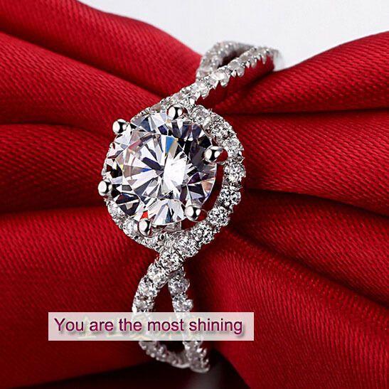Pt950 роскошь модный solitare 1 кт муассанит юбилей свадьба кольцо для женщины ну вечеринку кольцо