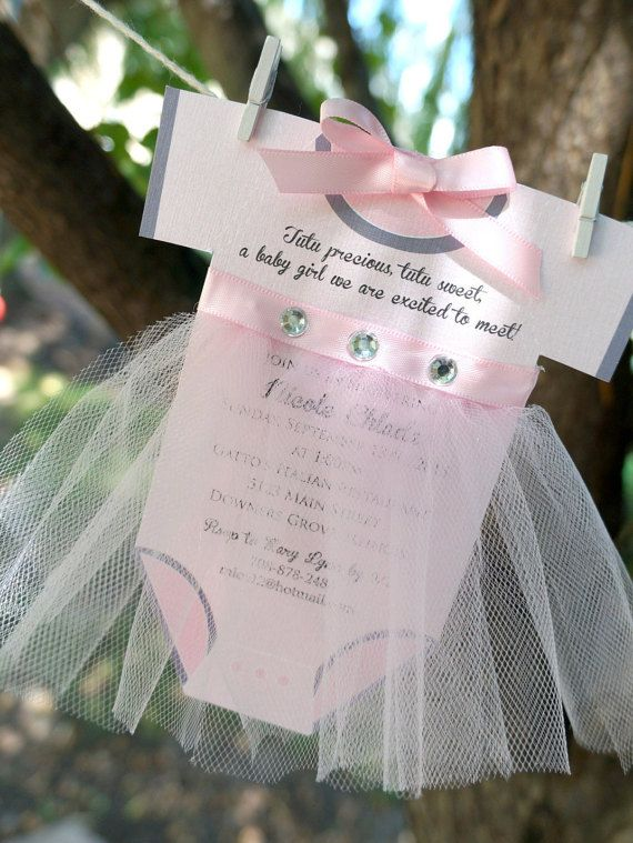 Tutu Onsie Baby Shower Invite Baby Showers Ideas And Babies