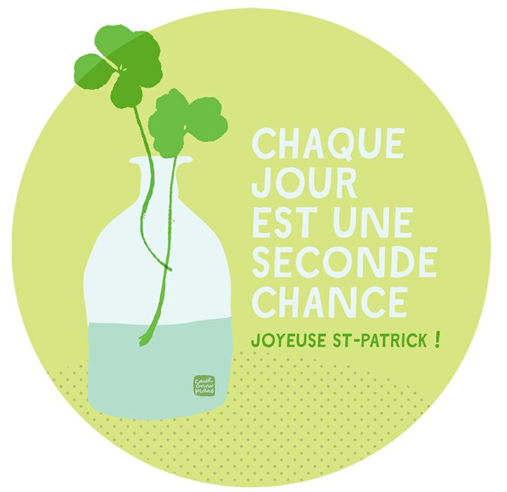 St-Patricks Day !  Every day is a second chance.... Chance quote