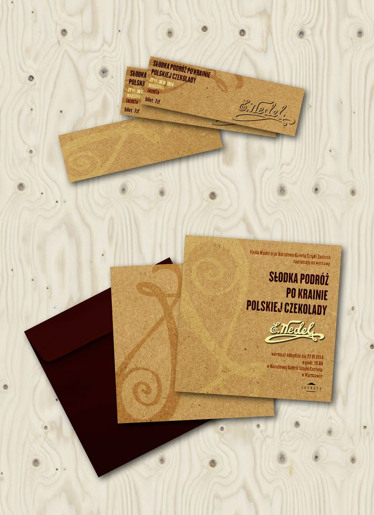 ticket, invitation, graphic design, plywood, natural, material, oldpaper, Wedel, chocolate, retro, style, retrostyle,