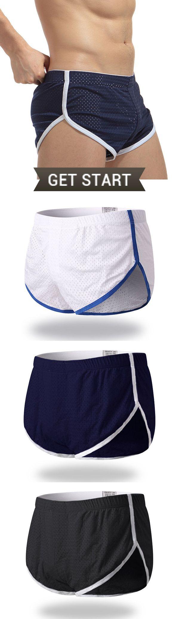Breathable Mesh Side Splited Underwear /Arrow Pants /Inside Pouch Sleepwear #mensfashion #outfit #fashion