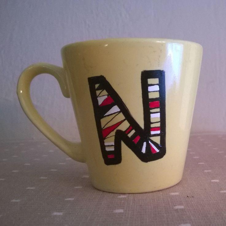 Alphabet mug N