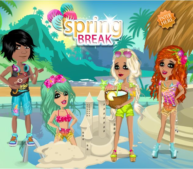Spring Break Theme at #moviestarplanet #MSP www.moviestarplanet.com